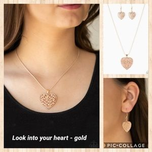 Look into your heart gold necklace